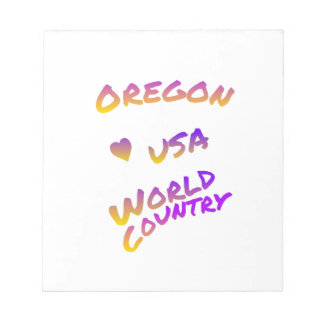 Oregon USA world country, colorful text art Notepad