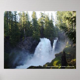 """Oregon Waterfall"" Poster"
