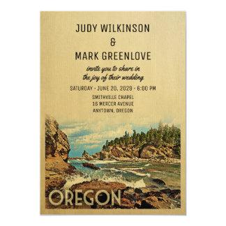 Oregon Wedding Invitation Vintage Mid-Century