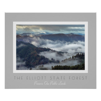 Oregon's Elliott State Forest- Protect Public Land Poster