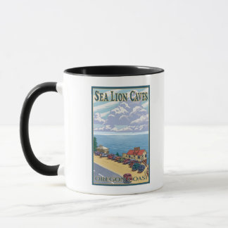 OregonSea Lion Caves Vintage Travel Poster Mug