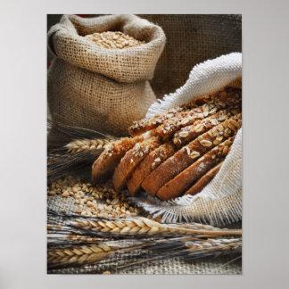 Oreilles de pain et de blé poster