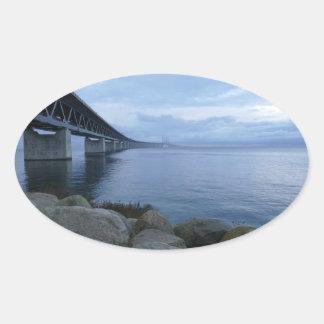Öresundsbron, Sweden, Denmark Oval Sticker