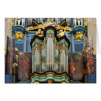 Organ, Breda, Netherlands greeting card