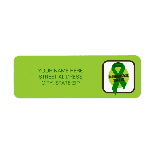 Organ Donation Awareness Address Mailing Labels