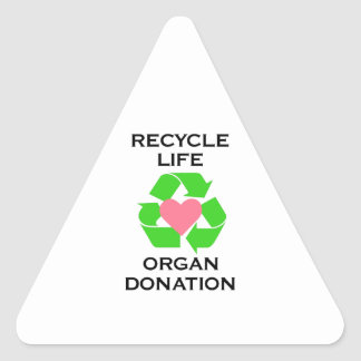ORGAN DONATION TRIANGLE STICKERS