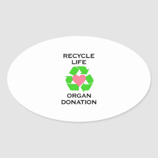 ORGAN DONATION OVAL STICKERS