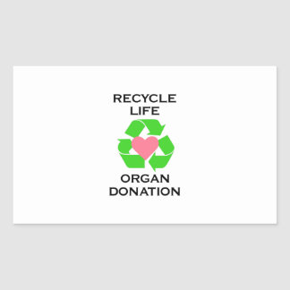 ORGAN DONATION RECTANGLE STICKERS