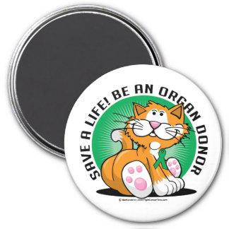 Organ Donor Cat Magnet