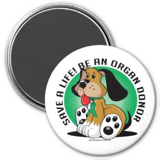 Organ Donor Dog Magnet