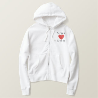 Organ Donor Embroidered Hoodie
