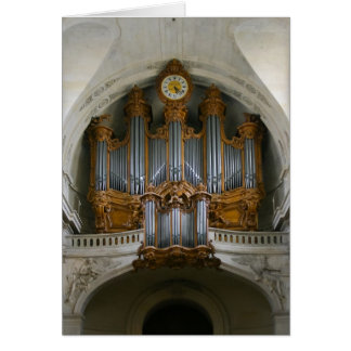 Organ in St Roch, Paris Card