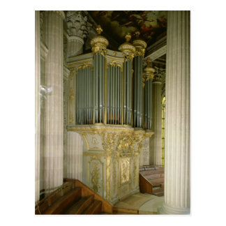 Organ in the chapel postcard