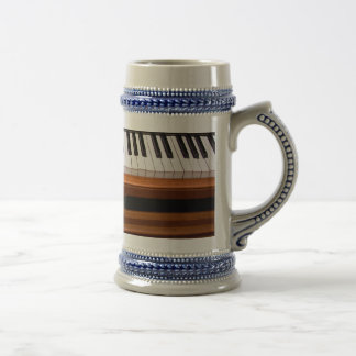 Organ keyboard beer stein