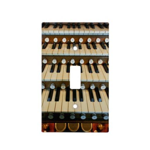 Organ manuals light switch plates