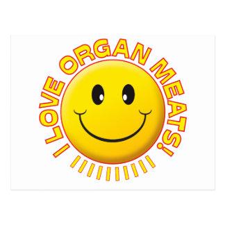 Organ Meats Smile Postcard