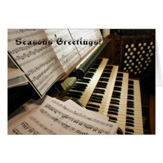 Organ music desk Christmas card