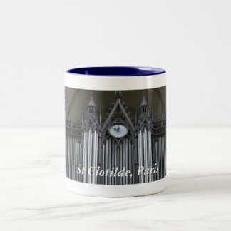 Organ of St Clotilde, Paris Two-Tone Coffee Mug