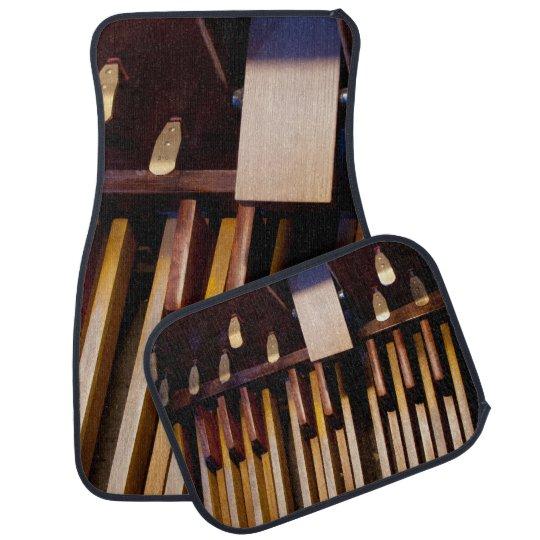 Organ pedals full set of mats car floor carpet