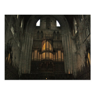 Organ Pipes in Ripon Cathedral England Post Card