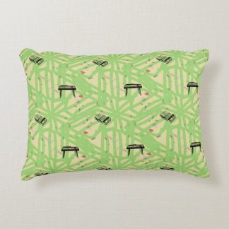 Organ Recorder Pattern Choose Background Color P Accent Pillow
