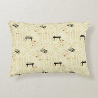 Organ Tape Pattern Transparent lines Choose Color Decorative Pillow