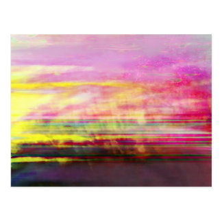 Organic abstract #1448 postcard