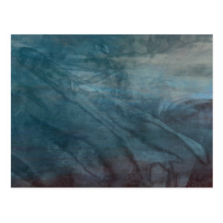 Organic abstract #1469 postcard