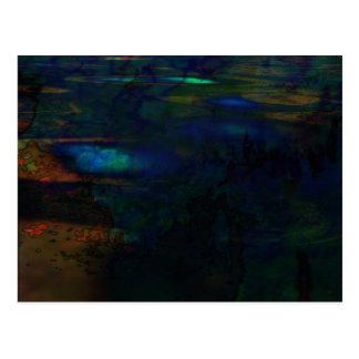 Organic abstract #146 postcard