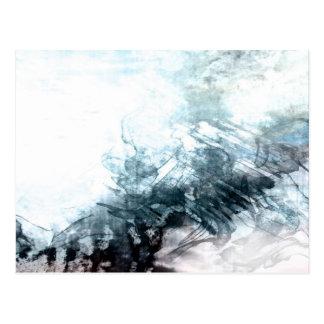 Organic abstract #1470 postcard