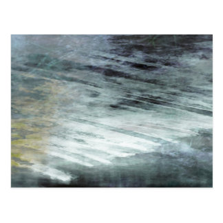 Organic abstract #1480 postcard