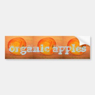 organic apples bumper sticker