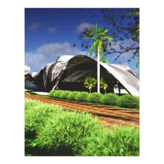 Organic Architecture Landscape Personalized Letterhead