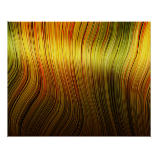 Organic Art Molten Plastic Soft Strands Yellow Poster