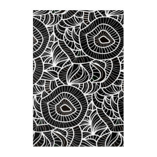 Organic Black & White Repeat Pattern Acrylic Print