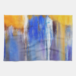 Organic Blue and Yellow Abstract Kitchen Towel