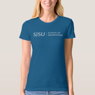 Organic Blue Women's T-shirt - White iSchool Logo