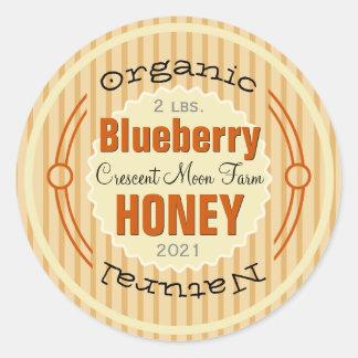 Organic Blueberry Personalized Honey Jar Classic Round Sticker
