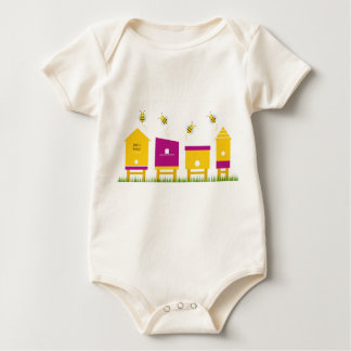 Organic body suit with Bees Baby Bodysuit