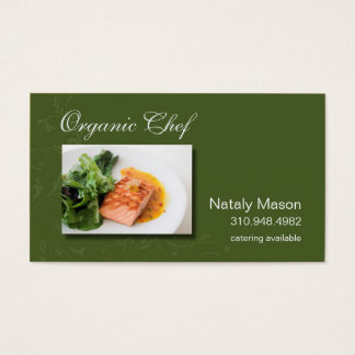 """""""Organic Chef"""" Catering, Healthy Eating, Nutrition Business Card"""