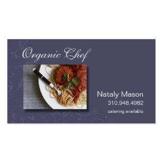 """""""Organic Chef"""" Catering, Healthy Eating, Nutrition Business Cards"""