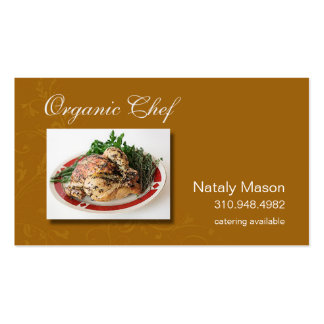 """""""Organic Chef"""" Catering, Healthy Eating, Nutrition Business Card Template"""
