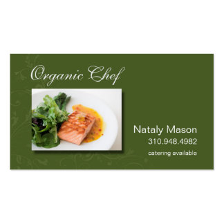 """""""Organic Chef"""" Catering, Healthy Eating, Nutrition Pack Of Standard Business Cards"""