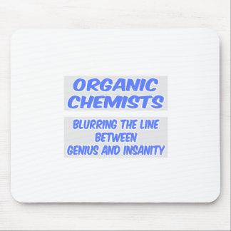 Organic Chemist Joke Genius and Insanity Mouse Pads