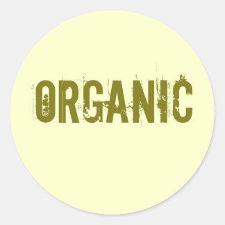 organic classic round sticker