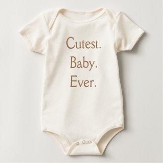 Organic Cutest Baby Ever One Piece Tshirt