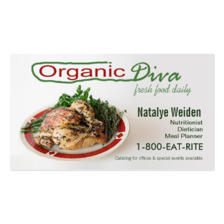 Organic Diva Nutritionist Food Stylist Caterer Business Card