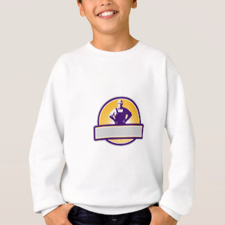 Organic Farmer Akimbo Sunburst Circle Retro Sweatshirt