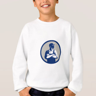 Organic Farmer Arms Folded Looking Side Circle Ret Sweatshirt