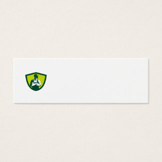 Organic Farmer Arms Folded Looking Side Crest Retr Mini Business Card